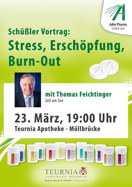 Schüßler-Vortrag: Stress, Erschöpfung, Burn-Out