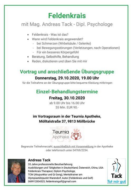 Feldenkrais mit Mag. Andreas Tack