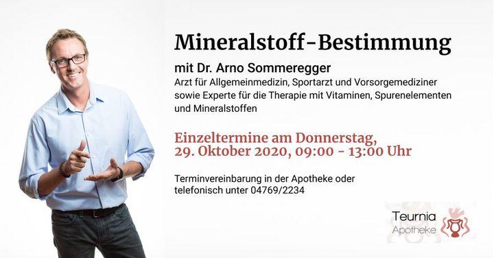 individuelle Mineralstoff-Bestimmung mit Dr. Arno Sommeregger